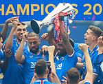 15.05.2021 Rangers v Aberdeen: Jermain Defoe with the SPFL Premiership league trophy