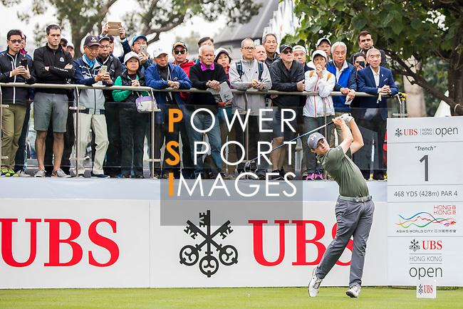 Matthew Fitzpatrick of England tees off during the day three of UBS Hong Kong Open 2017 at the Hong Kong Golf Club on 25 November 2017, in Hong Kong, Hong Kong. Photo by Yu Chun Christopher Wong / Power Sport Images