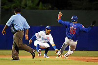MONTERIA - COLOMBIA, 23-11-2019: Vaqueros de Montería y Caimanes de Barranquilla en el juego 1 de la serie 4 de la Liga Profesional de Béisbol Colombiano temporada 2019-2020 jugado en el estadio estadio Dieciocho de Junio de la ciudad de Montería. Victoria para Caimanes por marcador de 10-2. / Vaqueros de Monteria and Caimanes de Barranquilla in match 1 series 4 as part Colombian Baseball Professional League season 2019-2020 played at Baseball Stadium on June 18 in Monteria city. Victory to Caimanes by score of 10-2, Photo: VizzorImage / Andres Felipe Lopez / Cont
