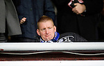 Hearts v St Johnstone...03.12.11   SPL .St Johnstone boss Steve Lomas watches from the stands due to a one match ban.Picture by Graeme Hart..Copyright Perthshire Picture Agency.Tel: 01738 623350  Mobile: 07990 594431