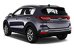 Car pictures of rear three quarter view of a 2019 KIA Sportage More 5 Door SUV angular rear