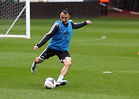 Wednesday, 23 April 2014<br /> Pictured: Leon Britton.<br /> Re: Swansea City FC are holding an open training session for their supporters at the Liberty Stadium, south Wales,