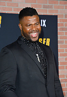 "LOS ANGELES, CA: 27, 2020: Winston Duke at the world premiere of ""Spenser Confidential"" at the Regency Village Theatre.<br /> Picture: Paul Smith/Featureflash"