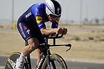 Sam Bennett (IRL) Deceuninck-Quick Step during Stage 2 of the 2021 UAE Tour an individual time trial running 13km around Al Hudayriyat Island, Abu Dhabi, UAE. 22nd February 2021.  <br /> Picture: Eoin Clarke | Cyclefile<br /> <br /> All photos usage must carry mandatory copyright credit (© Cyclefile | Eoin Clarke)