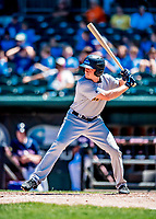 18 July 2018: Trenton Thunder outfielder Jeff Hendrix in action against the New Hampshire Fisher Cats at Northeast Delta Dental Stadium in Manchester, NH. The Thunder defeated the Fisher Cats 3-2 concluding a previous game started April 29. Mandatory Credit: Ed Wolfstein Photo *** RAW (NEF) Image File Available ***