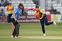Aron Nijjar in bowling action for Essex during Essex Eagles vs Sussex Sharks, Vitality Blast T20 Cricket at The Cloudfm County Ground on 15th June 2021