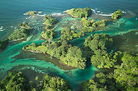 Some of the aerial pictures showing the magnificent landscapes of Bocas del Toro, one of the most spectacular destinations in Panama. This pictures are part of the exhibition organized by Albatros Media Foundation to spread conscience on how to develop tourism without harming the environment.