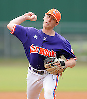 October 25, 2009: Alex Frederick of the Clemson Tigers in an intra-squad Orange and Purple scrimmage game at the end of fall practice at Doug Kingsmore Stadium in Clemson, S.C. Photo by: Tom Priddy/Four Seam Images