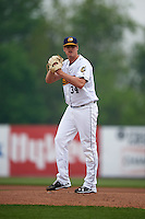 Burlington Bees starting pitcher Grayson Long (34) gets ready to deliver a pitch during a game against the Bowling Green Hot Rods on May 7, 2016 at Community Field in Burlington, Iowa.  Bowling Green defeated Burlington 11-1.  (Mike Janes/Four Seam Images)