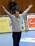 21.11.2020, GER, VBL, SVG Lueneburg vs SWD Powervolleys Dueren, im Bild Trainer Rafal Murczkiewicz (Dueren) jubelt /Foto © nordphoto/ Witke