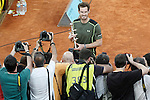 Andy Murray, Great Britain celebrates the victory in the Madrid Open Tennis 2015. May, 10, 2015.(ALTERPHOTOS/Acero)