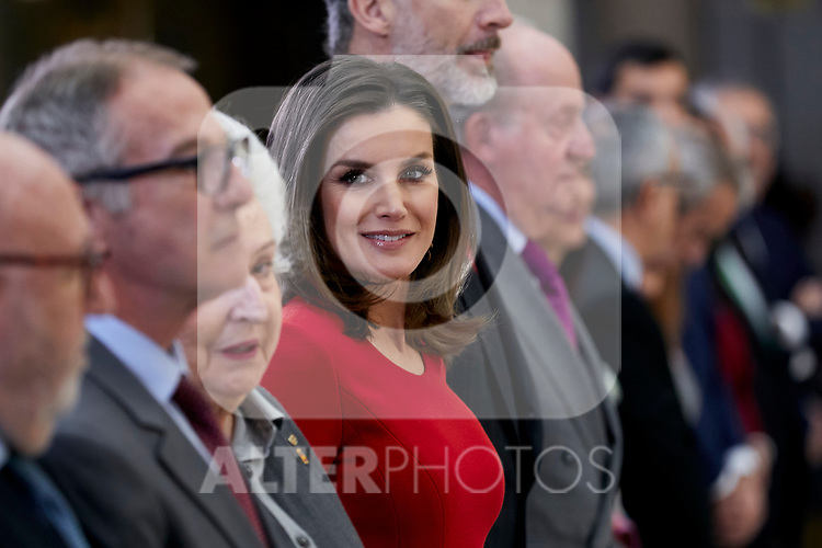 Queen Letizia of Spain attends to National Sports Awards at Royal Palace of el Pardo in Madrid, Spain. January 10, 2019. (ALTERPHOTOS/A. Perez Meca) (ALTERPHOTOS/A. Perez Meca)