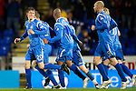 St Johnstone v Celtic..27.10.10  .Murray Davidson celebrates his goal.Picture by Graeme Hart..Copyright Perthshire Picture Agency.Tel: 01738 623350  Mobile: 07990 594431