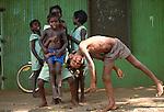 Tiwi children, Bathurst Island, Australia