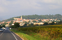 Murviel-lez-Beziers, St Chinian Languedoc. France. Europe. Mountains in the background.