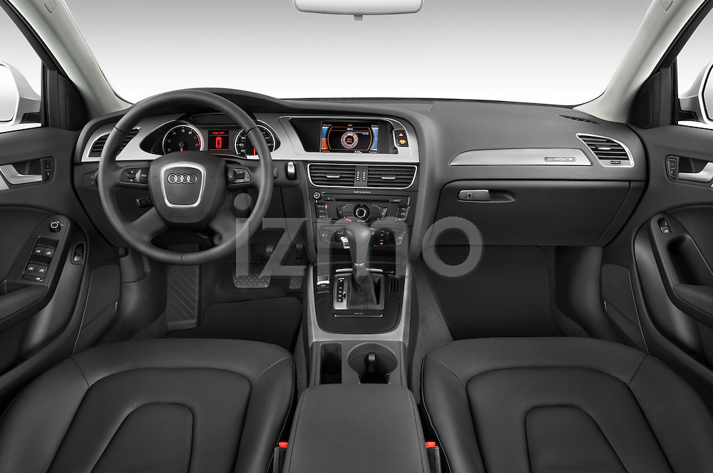 Straight dashboard view of a 2011 Audi A4 Sedan