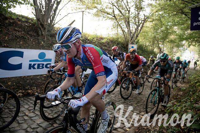 Dries Van Gestel (BEL/Total-Direct Energie) up the Koppenberg<br /> <br /> 104th Ronde van Vlaanderen 2020 (1.UWT)<br /> 1 day race from Antwerpen to Oudenaarde (BEL/243km) <br /> <br /> ©kramon
