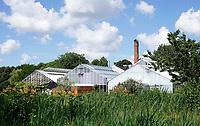 Nederland Amsterdam 2020. Park Frankendael.  Restaurant de Kas is gevestigd in de voormalige Amsterdamse Stadskwekerij. Foto Berlinda van Dam / Hollandse Hoogte