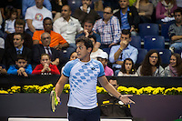 VALENCIA, SPAIN - OCTOBER 28: Nicolas Almagro during Valencia Open Tennis 2015 on October 28, 2015 in Valencia , Spain