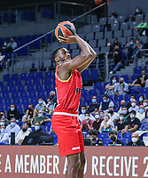 13th October 2021; Wizink Center; Madrid, Spain; Turkish Airlines Euroleague Basketball; game 3; Real Madrid versus AS Monaco; Alpha Diallo (AS Monaco) shoots for three points