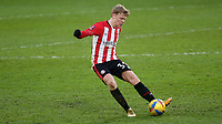 Jan Zamurek of Brentford in action during Brentford vs Leicester City, Emirates FA Cup Football at the Brentford Community Stadium on 24th January 2021