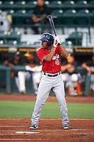 Fort Myers Miracle LaMonte Wade (4) at bat during a game against the Bradenton Marauders on August 3, 2016 at McKechnie Field in Bradenton, Florida.  Bradenton defeated Fort Myers 9-5.  (Mike Janes/Four Seam Images)