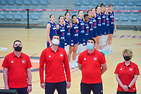 staff members team Serbia pictured during a basketball game between the national teams of Puerto Rico and Serbia on Sunday 30 th of May 2021 in Kortrijk , Belgium . PHOTO SPORTPIX.BE | SPP | STIJN AUDOOREN