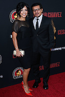 """HOLLYWOOD, LOS ANGELES, CA, USA - MARCH 20: Sylvia Arzate, Jacob Vargas at the Los Angeles Premiere Of Pantelion Films And Participant Media's """"Cesar Chavez"""" held at TCL Chinese Theatre on March 20, 2014 in Hollywood, Los Angeles, California, United States. (Photo by David Acosta/Celebrity Monitor)"""