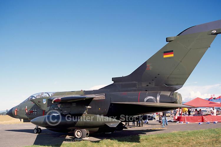German Luftwaffe / German Air Force Tornadoes Military Aircraft on Static Display - at Abbotsford International Airshow, BC, British Columbia, Canada