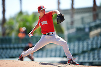 Boston Red Sox pitcher Jake Cosart (52) during an Instructional League game against the Baltimore Orioles on September 22, 2016 at the Ed Smith Stadium in Sarasota, Florida.  (Mike Janes/Four Seam Images)