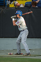 Reed Gamache (13) of the Kingsport Mets waits for his turn to bat during the game against the Burlington Royals at Burlington Athletic Stadium on July 18, 2016 in Burlington, North Carolina.  The Royals defeated the Mets 8-2.  (Brian Westerholt/Four Seam Images)