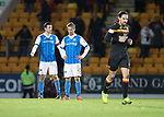 St Johnstone v Partick Thistle…27.01.18…  McDiarmid Park…  SPFL<br />Joe Shaughnessy and Chris Millar reacts as Ryan Edwards runs away after scoring his goal<br />Picture by Graeme Hart. <br />Copyright Perthshire Picture Agency<br />Tel: 01738 623350  Mobile: 07990 594431