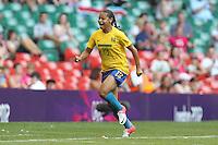 FRANCIELLE of Brazil scores the first goal - Brazil Women vs Cameroon Women - Womens Olympic Football Tournament London 2012 Group E at the Millenium Stadium, Cardiff, Wales - 25/07/12 - MANDATORY CREDIT: Gavin Ellis/SHEKICKS/TGSPHOTO - Self billing applies where appropriate - 0845 094 6026 - contact@tgsphoto.co.uk - NO UNPAID USE.