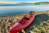 Kayak boat on shores of Lake Tahoe. California