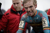 new U23 World Champion Eli Iserbyt (BEL) after the finish<br /> <br /> U23 men's race<br /> <br /> UCI 2016 cyclocross World Championships / Zolder, Belgium
