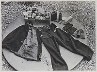 BNPS.co.uk (01202 558833)<br /> Pic: IronCrossMagazine/BNPS<br /> <br /> Pictured: Civilian clothes expertly made by British POWs.<br /> <br /> The comical escape attempts made by British officers from a German prisoner of war camp called Castle Tittmoning have been revealed 80 years later.<br /> <br /> The desperate efforts to break out of the little known but rude sounding camp included three men who hid inside a cramped fireplace for eight days before being found by guards covered in soot. <br /> <br /> Other officers hid under piles of rubbish on a horse-drawn cart and allowed themselves to be driven out of the fortress before they were discovered.<br /> <br /> The men expertly made German uniforms out of blankets and brazenly walked out of the camp disguised as guards before being rumbled.