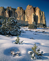 Winter scene at Inscription Rock; El Morro National Monument, NM