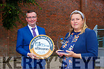 Ildiko Vajzat Wellness Baking Listowel  who was awarded silver at the Blas na hEireann awards with Hugh Glesson manager of BAnk Of Ireland Killarney branch on Monday