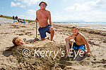 Playing in the sand in Ballyheigue on Tuesday, l to r: Auguste, Kevin and Rocas Dufficey from Killarney