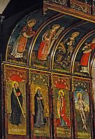 Europe/France/Auvergne/15/Cantal/Saint Charmant: Eglise - Détail peinture sur bois XVème siècle
