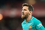 Lionel Andres Messi of FC Barcelona looks on during their Copa del Rey Round of 16 first leg match between Athletic Club and FC Barcelona at San Mames Stadium on 05 January 2017 in Bilbao, Spain. Photo by Victor Fraile / Power Sport Images