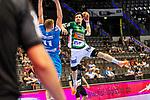 Nemanja Zelenovic (FRISCH AUF! Goeppingen #42) ; Adam Loenn (TVB Stuttgart #11) ; BGV Handball Cup 2020 Finaltag: TVB Stuttgart vs. FRISCH AUF Goeppingen am 13.09.2020 in Stuttgart (PORSCHE Arena), Baden-Wuerttemberg, Deutschland<br /> <br /> Foto © PIX-Sportfotos *** Foto ist honorarpflichtig! *** Auf Anfrage in hoeherer Qualitaet/Aufloesung. Belegexemplar erbeten. Veroeffentlichung ausschliesslich fuer journalistisch-publizistische Zwecke. For editorial use only.