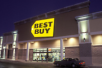 Best Buy, Wilmington, DE, Delaware, Entrance to Best Buy store in Wilmington in the evening.