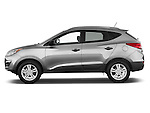 Driver side profile view of a 2012 Hyundai Tucson GLS SUV.