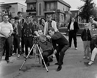 Loisirs  au Quebec - tournage de cinema etudiant ou court metrage, Quebec, date inconnue.<br /> <br /> PHOTO  : Agence Quebec Presse