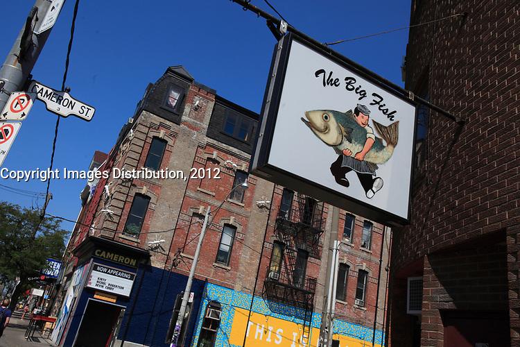 Toronto (ON) CANADA - July 2012 - Queen street west -The Big Fish restaurant
