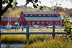 Fall Foliage colors the Mystic River at Mystic Seaport, CT