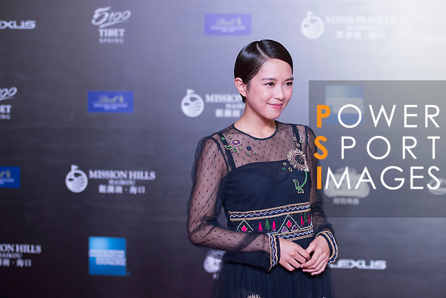 Cecilia So  at the Red Carpet event at the World Celebrity Pro-Am 2016 Mission Hills China Golf Tournament on 20 October 2016, in Haikou, China. Photo by Weixiang Lim / Power Sport Images