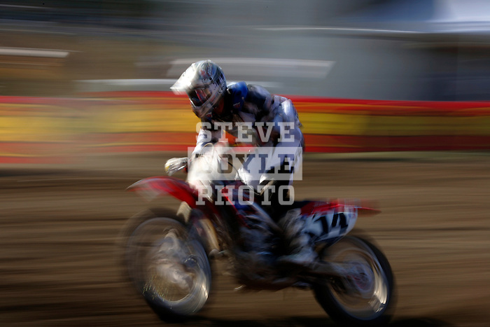 Kevin Windham (14) competes on the course at the Unadilla Valley Sports Center in New Berlin, New York on July 16, 2006, during the AMA Toyota Motocross Championship.