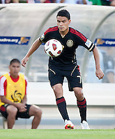 PASADENA, CA – June 25, 2011: Mexican player Pablo Barrera (7) during the Gold Cup Final match between USA and Mexico at the Rose Bowl in Pasadena, California. Final score USA 2 and Mexico 4.